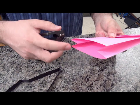 Sacola de papel para presentes (especial de Natal) - How to Make a Paper Bag