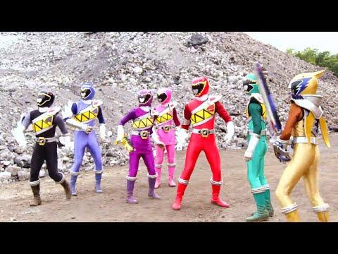 Power Ranger Dino Super Charge | Los rangers se reunen y luchan contra Snide e Iceage - Capitulo 1
