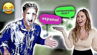 HUSBAND TRIES TO SPEAK SPANISH!!! **HILARIOUS**