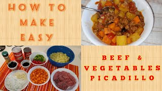 HOW TO MAKE EASY BEEF & VEGETABLES PICADILLO | LOW SODIUM & NO ADDED SALT | THE UNSALTED KITCHEN