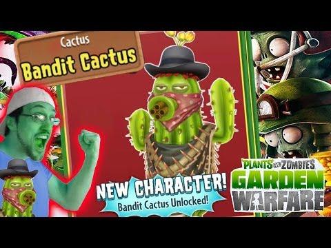 Bandit Cactus Unlocked  Quick Needles In Cactus Canyon  Plants Vs. Zombies Garden Warfare Gameplay