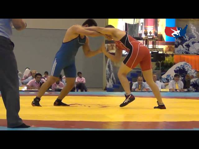 2012 Junior Worlds - FS 96kg - Tanner Hall (USA) vs. Magomedgadzhi Nurov (RUS)