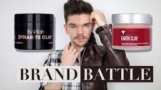 By Vilain Dynamite Clay vs. Salon Guy Earth Clay | Brand Battle