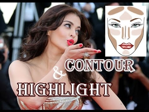 Aishwarya Rai Bacchan Cannes 2014 Makeup Tutorial   CONTOUR AND HIGHLIGHTING