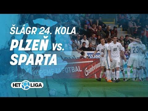 Šlágr 24. kola HET ligy: Plzeň - Sparta (15. 4. 2018)