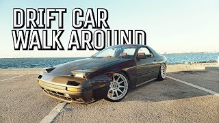 RX7 FC DRIFT CAR!! (walk around)