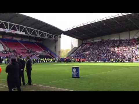 Wigan Athletic players parade 19/05/13 I'm a believer