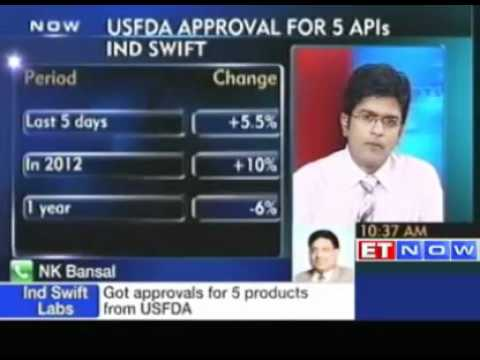 Ind Swift Labs - Got approvals for 5 products from USFDA