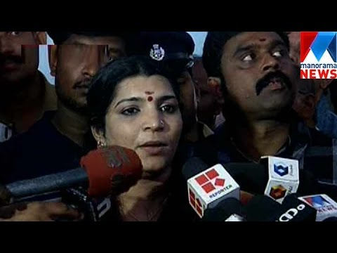 Saritha Nair hands over three discs to solar commission | Manorama News