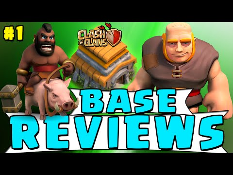 Clash of Clans - Subscriber Base Reviews! - TH5, TH7, TH9 Defense Strategy! #1