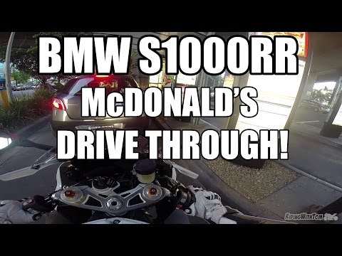 McDonald's Drive Through On a BMW S1000RR In Slick Mode