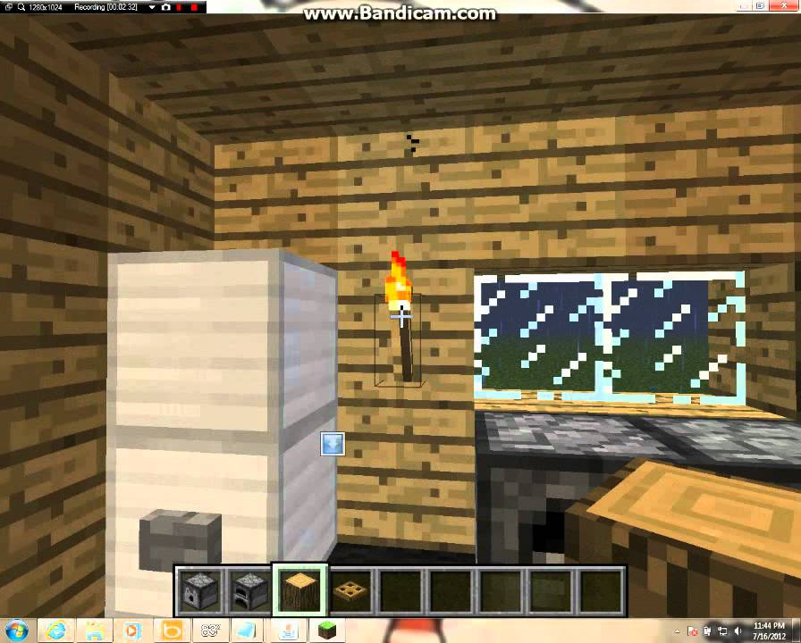 How to make a simple kitchen in minecraft - YouTube