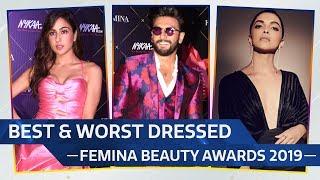 Sara Ali Khan Deepika Padukone Ranveer Singh Best Worst Dressed At The Femina Beauty Awards 2019