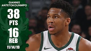 Giannis' 38-point 16-rebound performance leads the Bucks vs. the Bulls | 2019-20 NBA Highlights