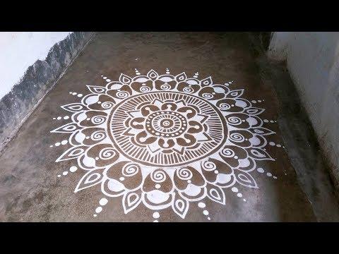 Alpana Design For Laxmi Puja, Manabasa Gurubara Jhoti Chitta