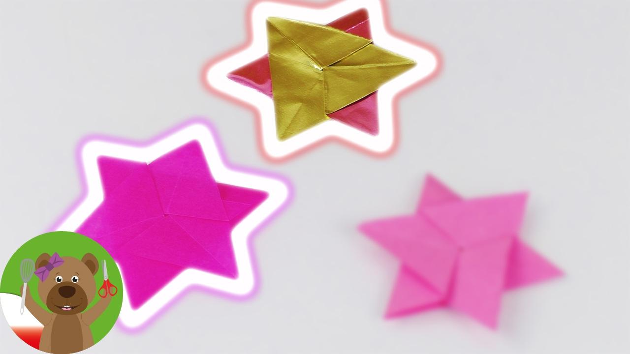 Świąteczne gwiazdki z bibuły i folii | pomysł na dekorację świąteczą lub zimową