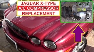 How to Remove and Replace the Air Conditioner Compressor on Jaguar X-Type  AC Compressor Replacement
