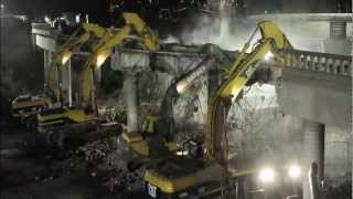 Time Lapse: Bridge demolished over 101 Freeway
