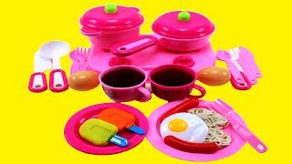 Toy Kitchen Playset For Kids |Cooking Toys For Kids*Kitchen Set For Girls*Unpacking Kids Kitchen Set