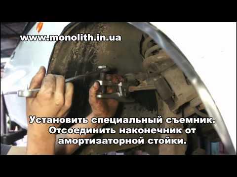 Видео как снять рулевые наконечники