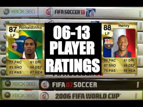 FIFA 06 - 13 PLAYER RATINGS! (Ronaldinho + Joe Hart)