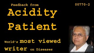 Feedback from Acidity Patient - Health00770-2