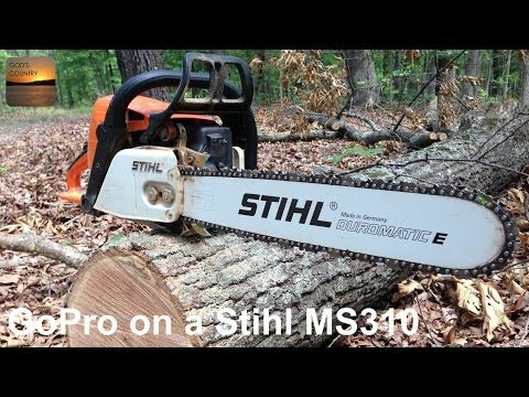 GoPro Hero 3 Mounted on a Stihl MS 310 Chainsaw - Clearing a Road