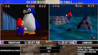 Puncayshun vs LiamKings | Quarter-Final | GSA 120 Star Invitational 2018 | Super Mario 64