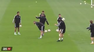 Cristiano Ronaldo and Luka Modric Skill Show - Real Madrid Training | 04/11/2014