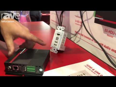 InfoComm 2018: Hall Research Shows the WX-HDU HDMI and USB Extender in Wallplate Format