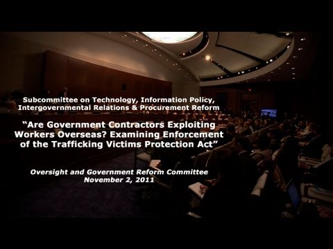 """""""Are Government Contractors Exploiting Workers Overseas?"""" Panel 1"""