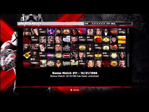 WWE 13 - ALL UNLOCKABLES UNLOCKED