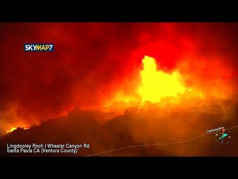 Wind-driven Thomas Fire in Santa Paula forces evacuations | ABC7