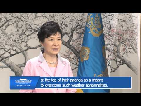 22nd ICID Congress: Congratulatory message from President Park, Guen-hye, Republic of Korea