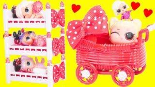 LOL Surprise Dolls Baby Princess in Bunk Beds Custom Bedroom | Toy Egg Videos