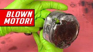 Blown Motor Teardown - Burnt Piston