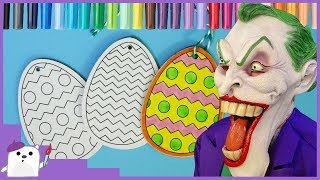 Coloring Easter Wooden Eggs with Markers Easter DIY activities for Kids SQUARE BEAR TOYS