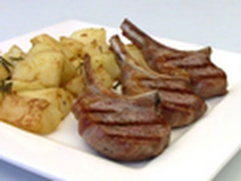 Lamb Cutlets With Rosemary And Garlic Potatoes Recipe