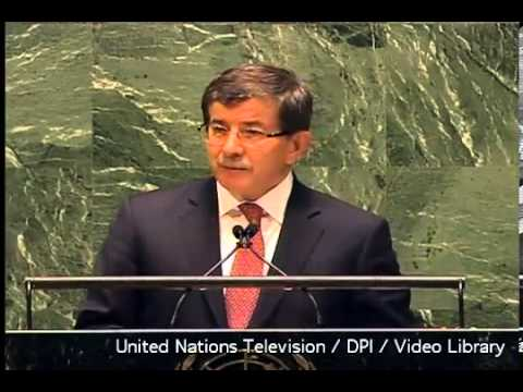 Ahmet Davutoğlu ''Palestine is a state!'' UN VOTES TO RECOGNIZE PALESTINE AS A STATE