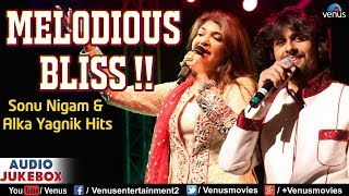 Melodious Bliss | Sonu Nigam & Alka Yagnik | 90's Evergreen Love Songs | JUKEBOX | Romantic Hits