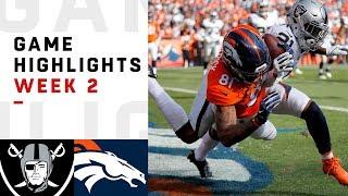 Raiders vs. Broncos Week 2 Highlights | NFL 2018