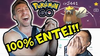 MY FIRST LEGENDARY HUNDO! ENTEI RAID DAY! IN POKÉMON GO