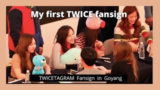 My First TWICE Fansign Experience - Twicetagram