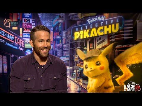 POKEMON: DETECTIVE PIKACHU Interviews With Ryan Reynolds, Justice Smith & Kathryn Newton