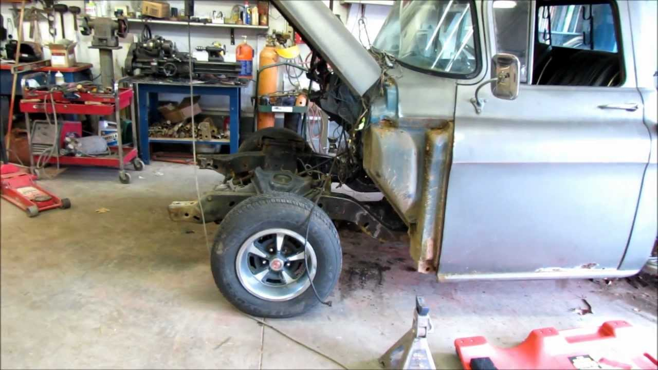 55 Chevy Truck Subframe Install Motor Is In Youtube