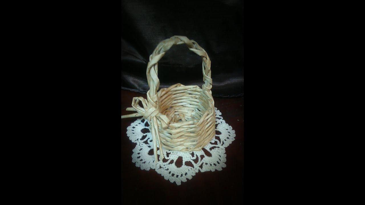 Плетение с своими руками из бумаги корзины 424