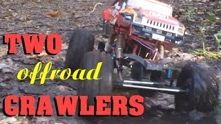 TWO CRAWLERS in OFFROAD ACTION - Graupner Punisher vs. HBX RockFighter - Darconizer RC