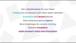 Overview of the premium features in Kahoot! for businesses