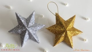 3D Christmas Stars ⭐️ With Paper | Paper Craft | Priti Sharma