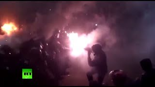 VIDEO RIOT Stones & Tear Gas  Kiev battlefield as cops clash with pro EU protesters  12/2/13